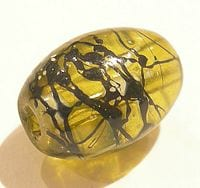 Exquiste Olivine Oval Fancy Glass Beads 1