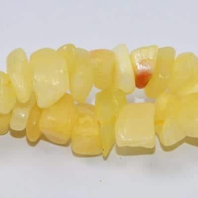 Lemon Honey Jade Chip Stone Strand (90cm) 19