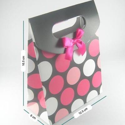 High Quality Black With Polka Dots Gift Bag 14