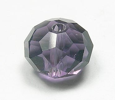 Amethyst Rondelle Glass Beads - (HRB04) 13