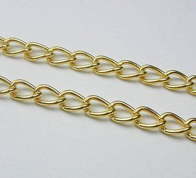 Modern Gold Metal Loose Jewellery Bulk Chains - (6mmx4mm) 11
