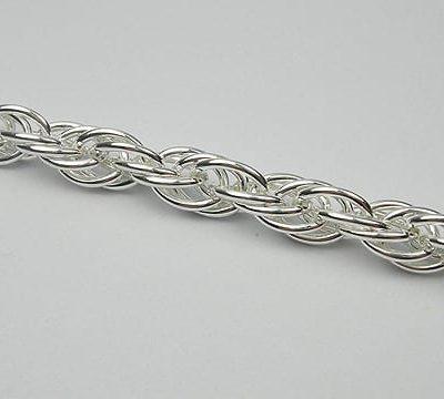 Modern Charming Silver Metal Jewellery Making Chain - (7mm) 15