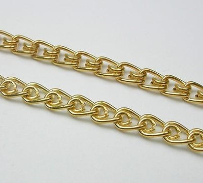 Beautifully Linked Gold Metal Jewellery Making Chain - (5mmx4mm) 1