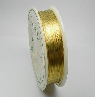 Gold Copper Wire Spool (0.2mm) 18