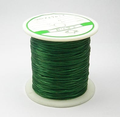 1 Crystal Elastic Wire Spool (30m) - Dark Green 2