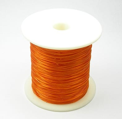 1 Crystal Wire Spool (30m) - Orange 12