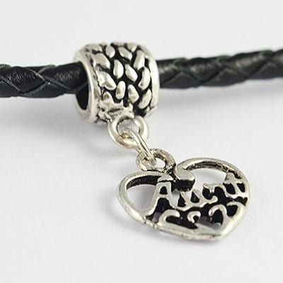 Antique Look Heart Shape European Style Metal Charm - G1 10