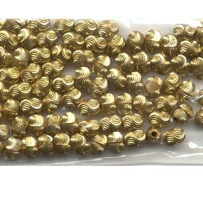 20 Gold Plated Swirl Spacer Beads 17