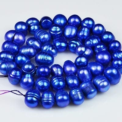 "Freshwater Pearls - Dark Blue Potato (16"") 1"