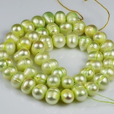"Freshwater Pearls - Lime Potato (16"") 2"