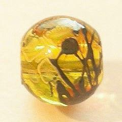 20 Topaz Fancy Glass Beads (8mm) 15