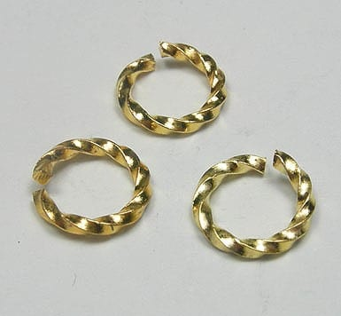 20 Gold Brass Plated Jump Rings (8mm) 6