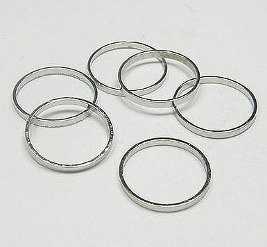 20 Platina Plated Rings (10mm) 18