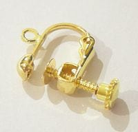 10 Clip and Screw Gold Plated Earring (15mmX12mm) 2