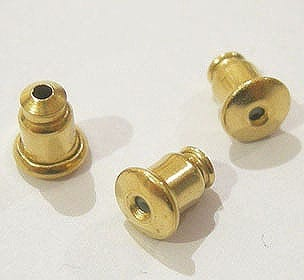 20 - Gold Plated Earring Post (6mm) 6