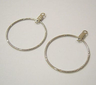 20 Silver Plated Round Earrings (25mmx23mm) 16