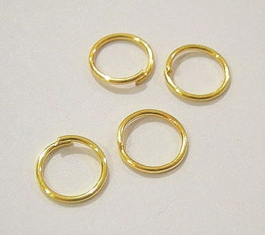 50 Gold Plated Jump Rings (4mm) 9