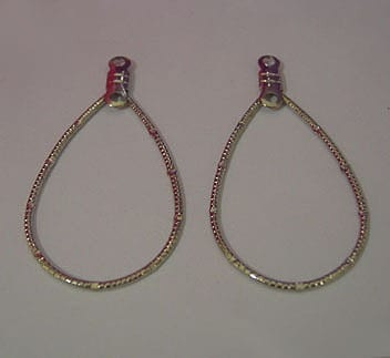 20 Oval Silver Plated Oval Earrings (20 X35mm) 14