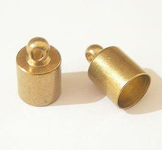20 Necklace Base Metal End Caps (6mm) 20