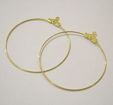 20 Gold Plated Earrings Hoops (50mm) 10