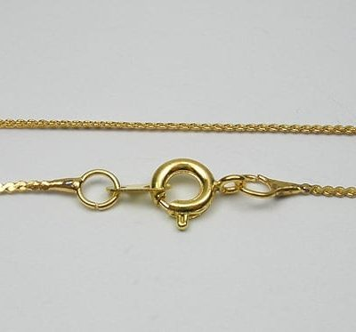 Complete Gold Metal Chain With Lobster Hook Model 03 - (45cm) 5