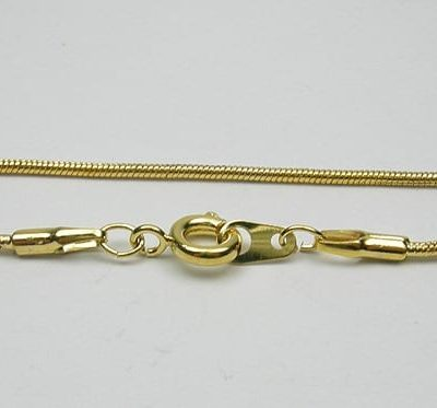 Complete Gold Metal Snake Chain & Lobster Hook Model 04 - (45cm) 4