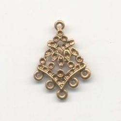 1 Pair Of Chandelier Gold Metal Earrings Model 2 - (22mmX28mm) 19