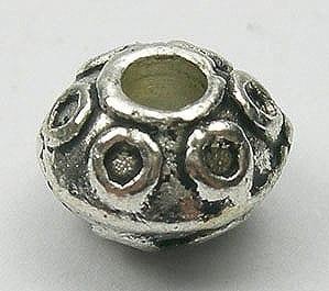 Amazing Stunning Sphere Shape Metal Bead (8mmx5mm) - M27 4