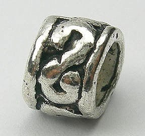 Tribal Style Round Shape Metal Beads (5mm) 3