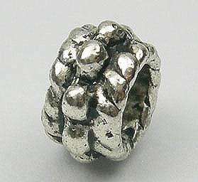 Unique Style Round Metal Bead - (8mmx5mm) 3