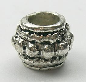 Round Barrel Metal Bead - (8mmx6mm) 4