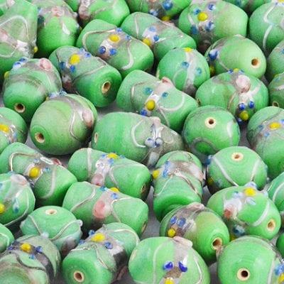 8 Sea Green High Quality Mix Designer Glass Beads 16