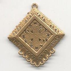 1 Antique Gold Square Chandelier Pendant - (55mm X 50mm) 6