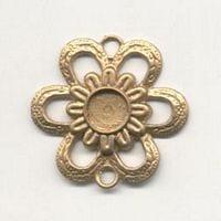1 Antique Gold Flower Chandelier Pendant - (45mm X 54mm) 3