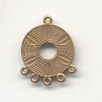 1 Pair Of Chandelier Gold Metal Earrings Model 19 - (30mmX22mm) 18