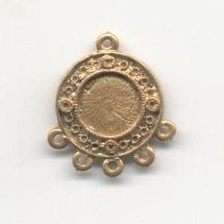 1 Pair Of Chandelier Gold Metal Earrings Model 1 - (22mm X 27mm) 8