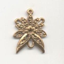 1 Pair Of Chandelier Gold Metal Earrings Model 17 - (34mmX25mm) 16