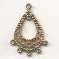 1 Pair Of Chandelier Gold Metal Earrings Model 12 - (45mmX35mm) 11