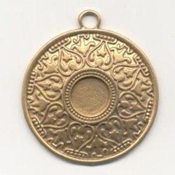 1 Antique Gold Round Chandelier Pendant - (54mm X 45mm) 5