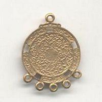 1 Pair Of Chandelier Gold Metal Earrings Model 15 - (32mmX26mm) 14