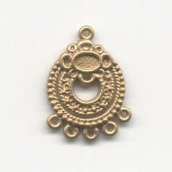 1 Pair Of Chandelier Gold Metal Earrings Model 20 - (30mmX22mm) 20