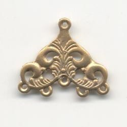 1 Pair Of Chandelier Gold Metal Earrings Model 18 - (30mmX30mm) 17