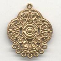 1 Pair Of Chandelier Gold Metal Earrings Model 11 - (45mmX35mm) 10