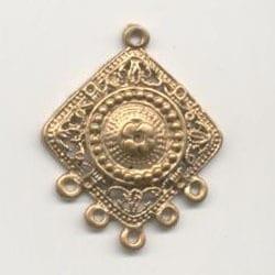 1 Pair Of Chandelier Gold Metal Earrings Model 14 - (36mmX28mm) 13