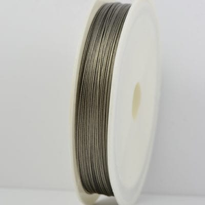 50 Meters Silver Grey Durable Tiger Tail Jewellery Wire spool - (0.45) 20