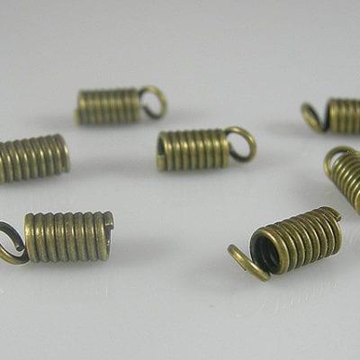 20 Antique Bronze Spring Clasp Connectors - (6mmX4mm) 9