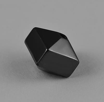 10 Faceted Square Smooth Finish Hematite Magnetic Beads - (8mm) 8