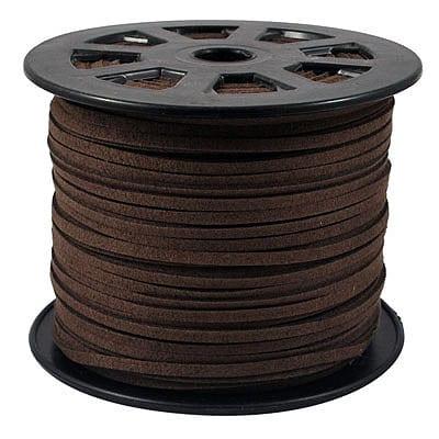1 Meter Brown Faux Suede Flat Chord - (3mm) 5