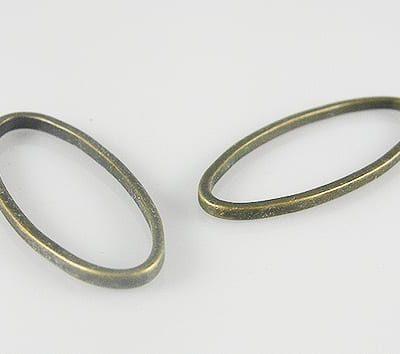 10 Linking New Spectacular Bronze Metal Beads - (25mmx10mm) - M13 7