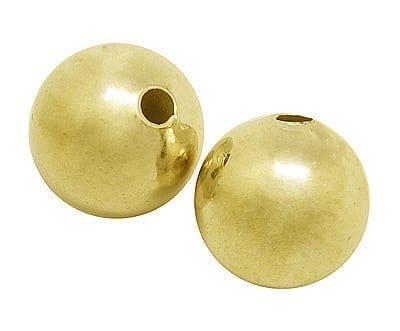 1 High Quality Golden Seamless Metal Bead - 8mm - M18 7
